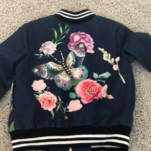 Truly Me Jackets & Coats - Satin Embroidered Jacket